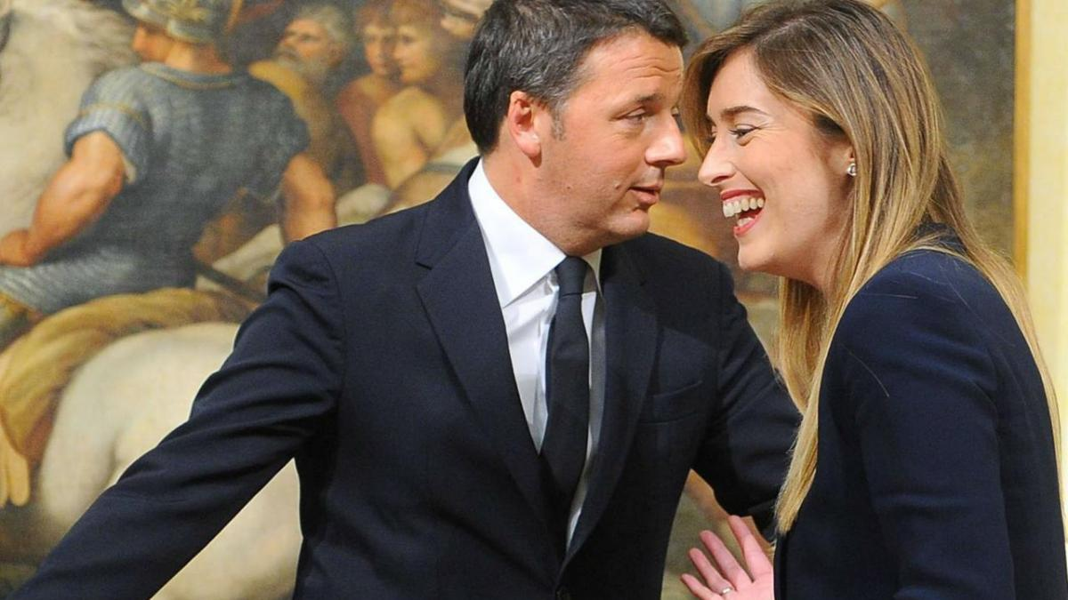 Maria Elena Boschi e Matteo Renzi