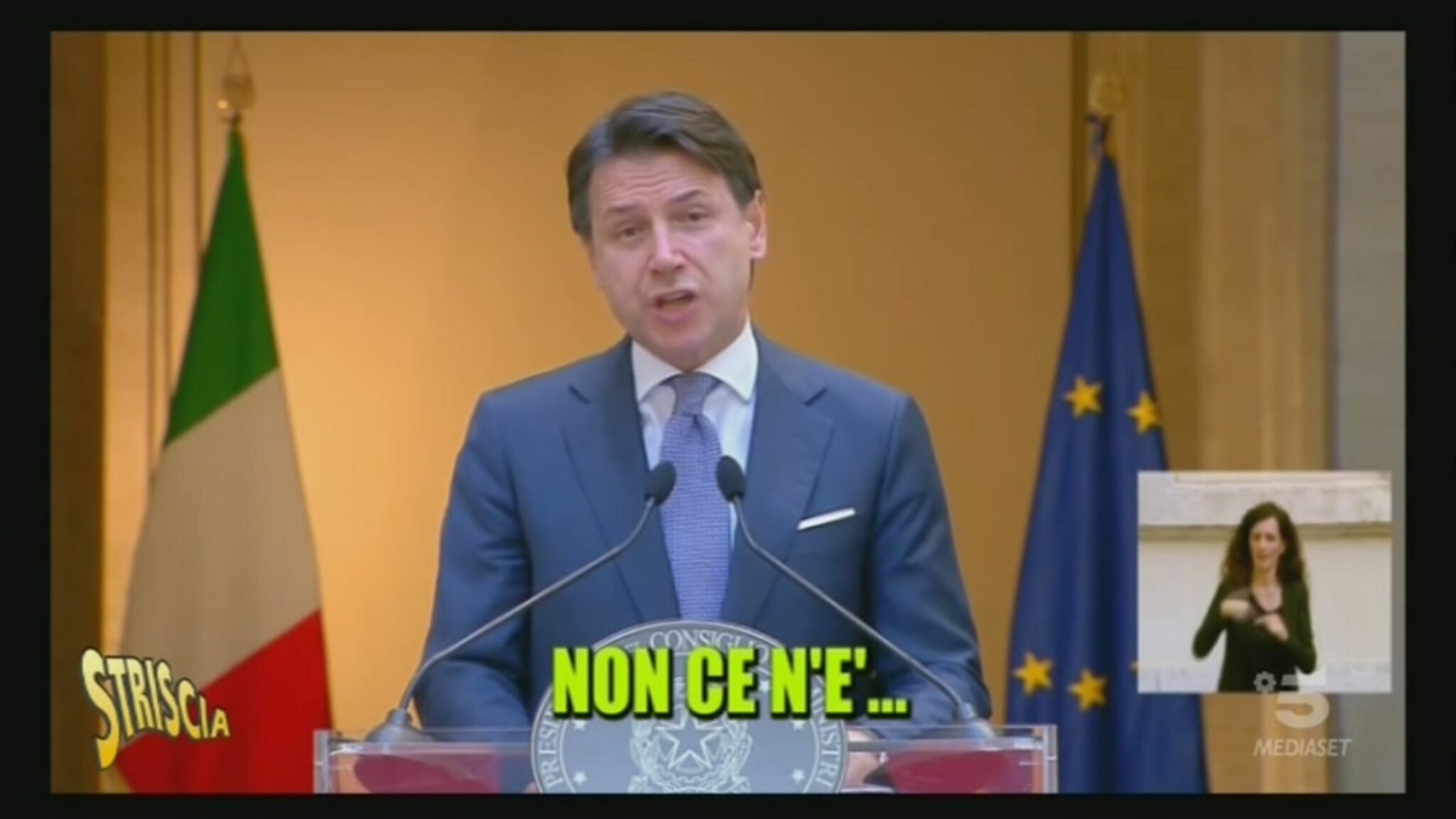 Giuseppe Conte Striscia la Notizia