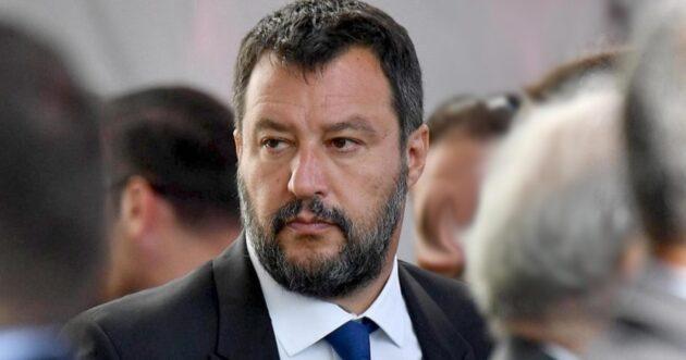 Matteo Salvini in Senato