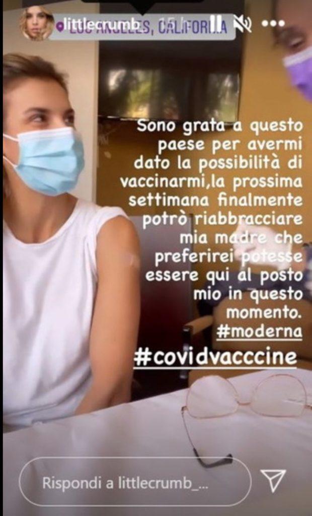 Elisabetta Canalis vaccino