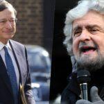 Mario Draghi Beppe grillo