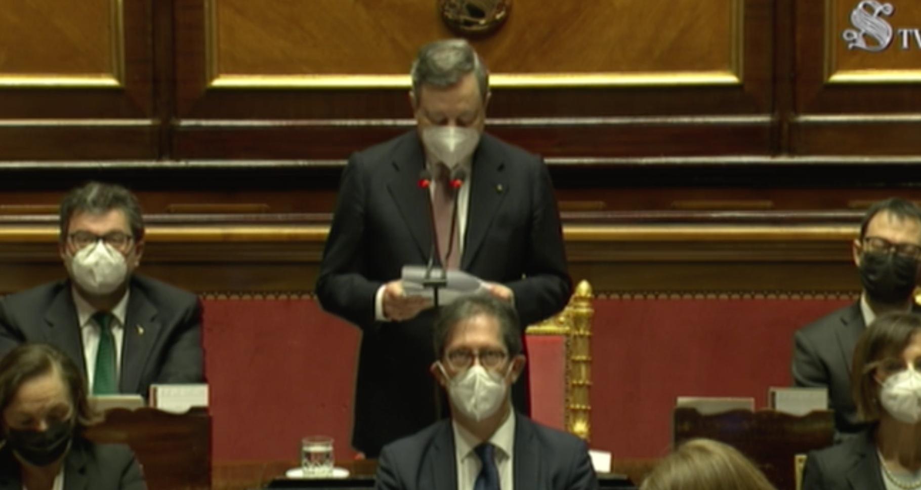 Draghi Senato Oggi Il Discorso In Diretta Del Premier