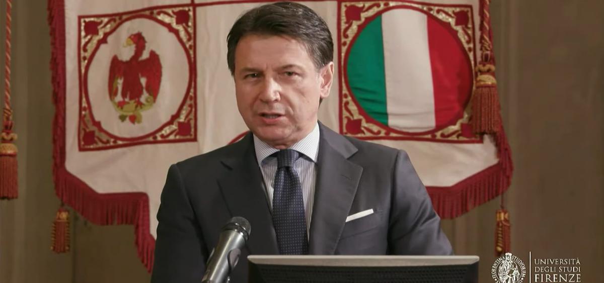 Giuseppe Conte torna all'Università di Firenze: la lectio magistralis su economia, salute e pandemia