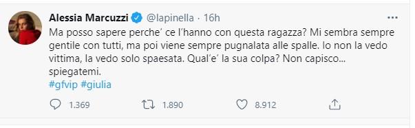 Giulia Salemi GF Twitter