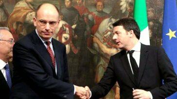 Matteo Renzi Enrico Letta incontro
