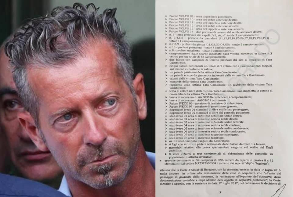 massimo bossetti analisi reperti lettera dal carcere
