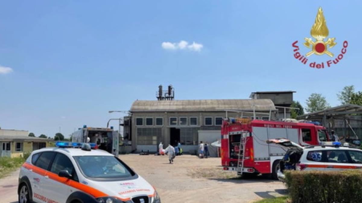 Villanterio Pavia incidente sul lavoro