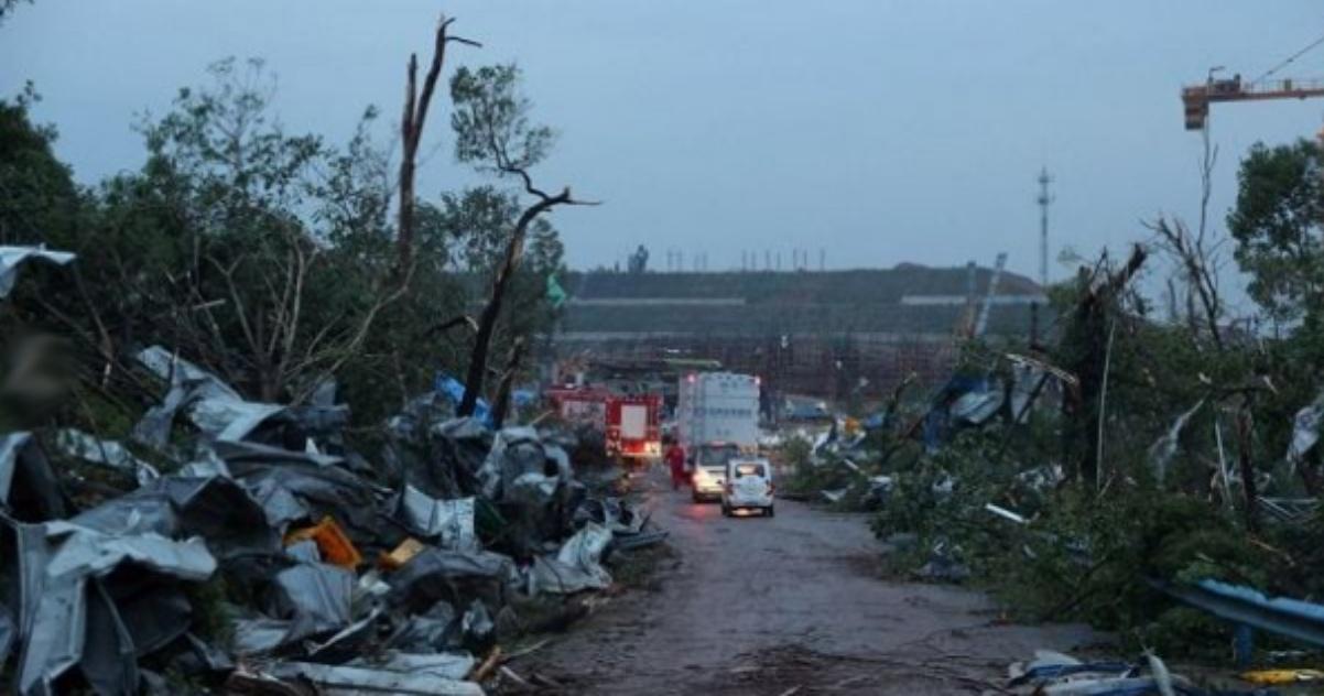 Cina tornado Wuhan
