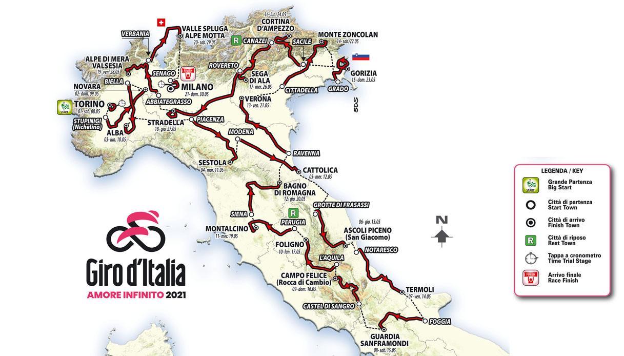 tappe giro d'Italia 2021