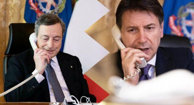 """Draghi e Conte """"telefonata di fuoco"""", retroscena sugli 007: «Davvero un colpo basso»"""