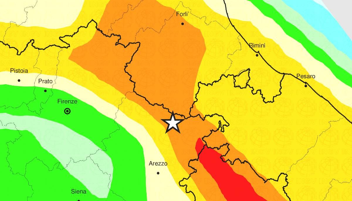 Terremoto oggi Chiusi della Verna Arezzo