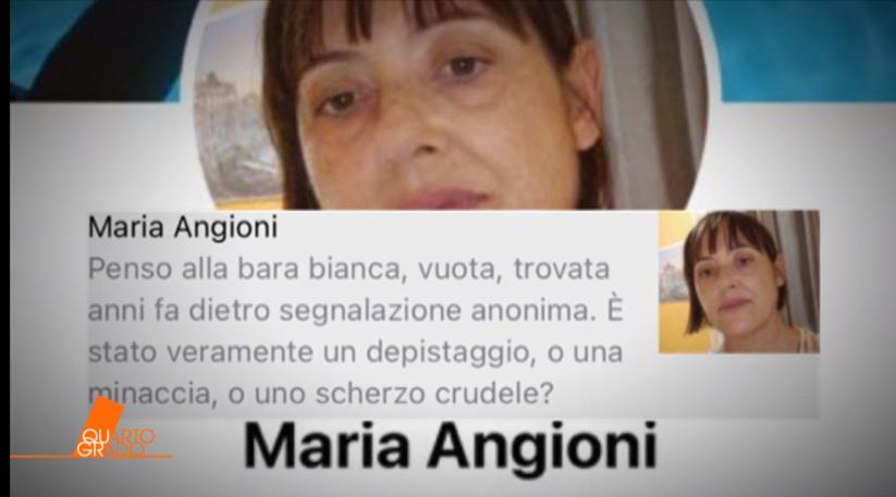DENISE PIPITONE BARA BIANCA SINISTRO POST EX PM ANGIONI