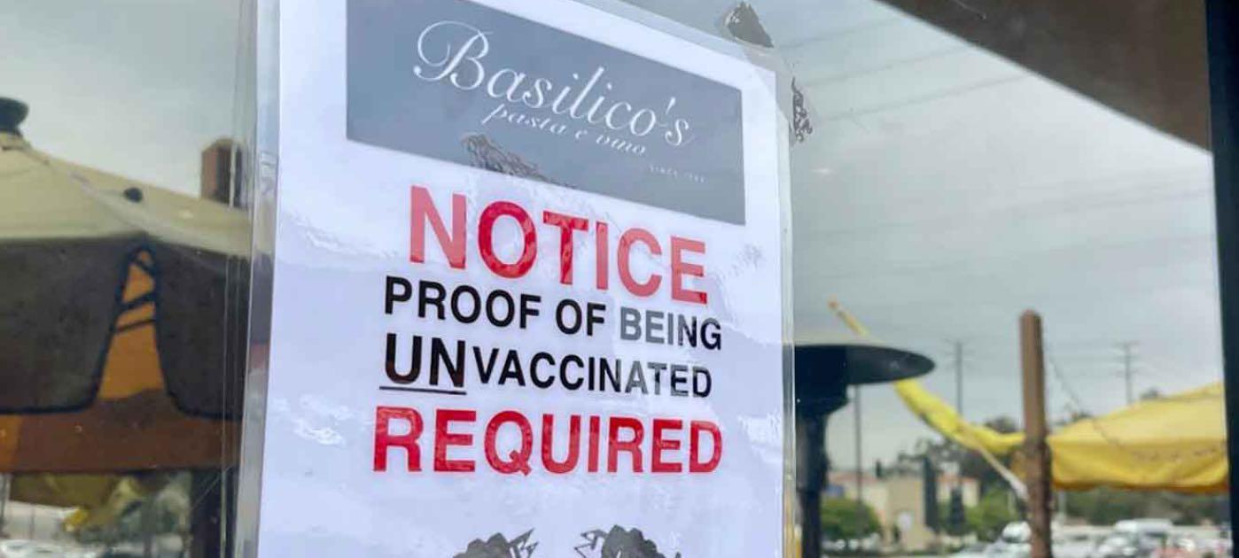 Ingresso riservato no vax