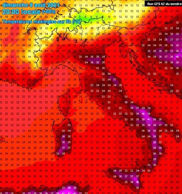 meteo prossimi giorni temperature massime