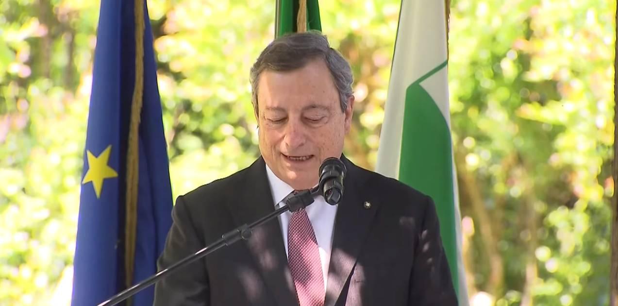 Ponte Morandi anniversario Draghi