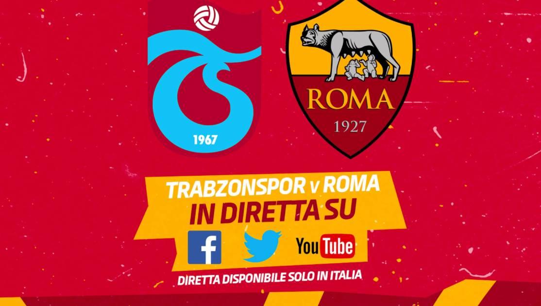Diretta Trabzonspor-Roma dove vederla