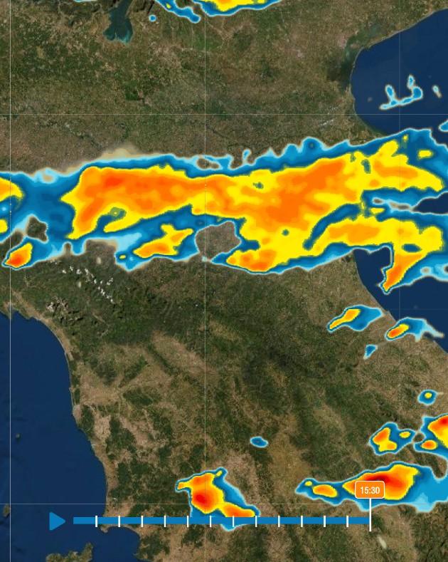 temporali con grandine oggi dove