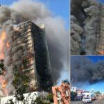 Incendio palazzo via Antonini a Milano