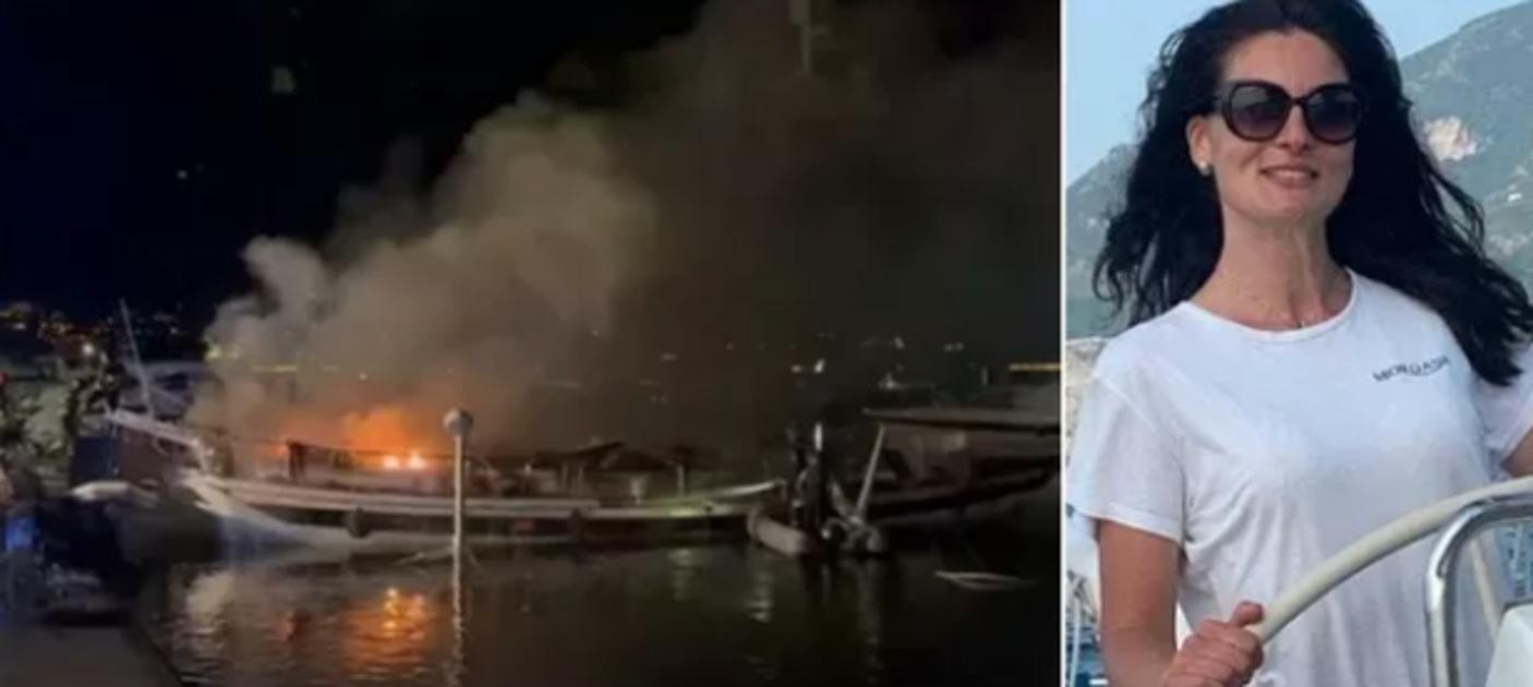 Marina di Stabia incendio barca