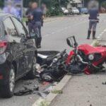 Bergamo incidente stradale a Ranica