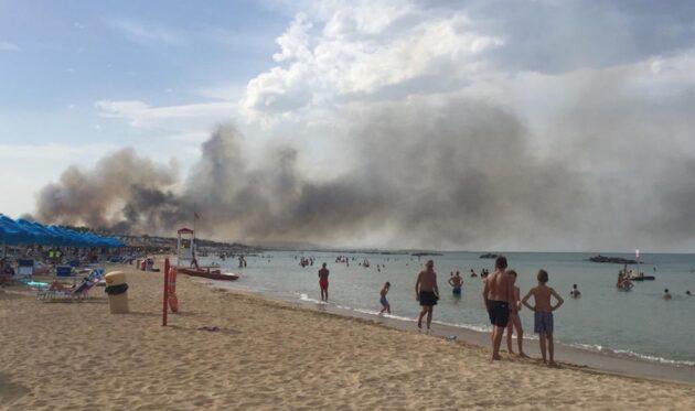 Abruzzo incendio pescara