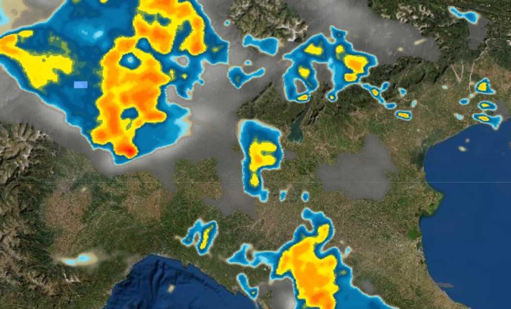 meteo oggi forti temporali ecco dove