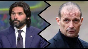 Daniele Adani contro Massimiliano Allegri