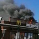 Incendio al McDonald's di Alessandria in via Giordano Bruno