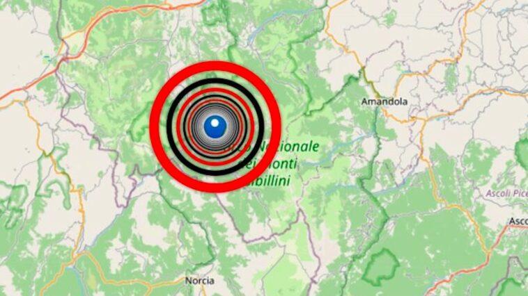 Terremoto Marche e Abruzzo scossa di magnitudo 3.8, epicentro Visso
