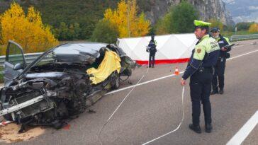 Giorgia Sartori morta nell'incidente a Zambana: schianto auto contro tir