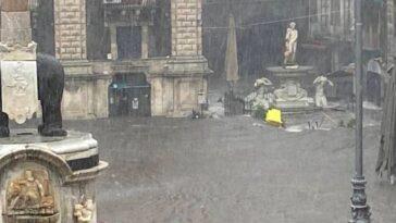 Catania maltempo uomo annegato a Gravina