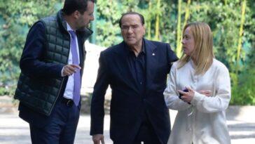 meloni salvini Berlusconi incontro
