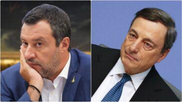 Salvini Draghi oggi