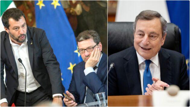 Giorgetti draghi rapporti Salvini